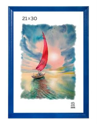 Рамка деревянная 21х30 см цвет синий 15 профиль - фото 4787