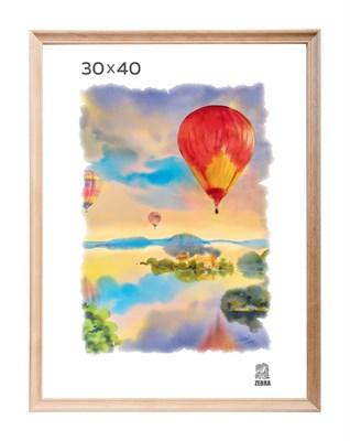 Рамка деревянная 30х40 см цвет натуральный 15 профиль - фото 7327