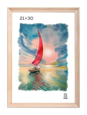 Рамка деревянная 21х30 см цвет натуральный 15 профиль - фото 7334