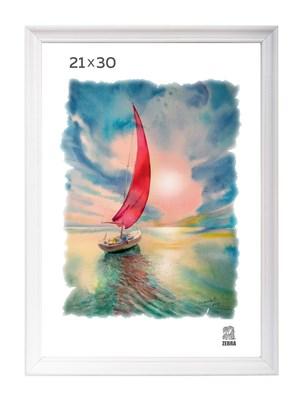 Рамка деревянная 21х30 см цвет белый 15 профиль - фото 7342