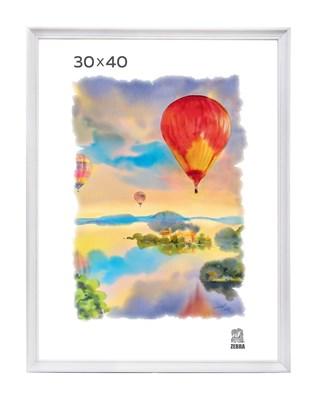 Рамка деревянная 30х40 см цвет белый 15 профиль - фото 7346