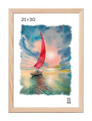 Рамка деревянная 21х30 см цвет натуральный 13 профиль - фото 7371
