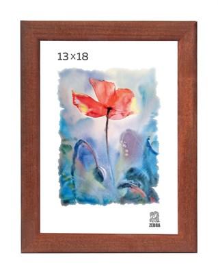 Рамка деревянная 13х18 см цвет орех 13 профиль - фото 7377