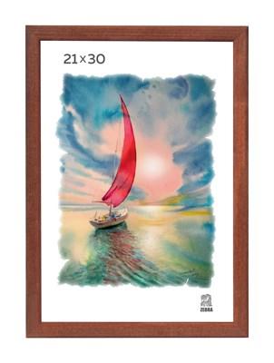 Рамка деревянная 21х30 см цвет орех 13 профиль - фото 7381