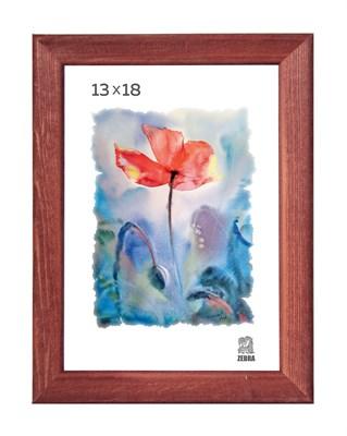 Рамка деревянная 13х18 см цвет красное дерево 13 профиль - фото 7387
