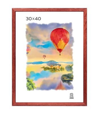 Рамка деревянная 30х40 см цвет красное дерево 13 профиль - фото 7393