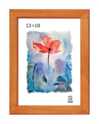 Рамка деревянная 13х18 см цвет лиственница 13 профиль - фото 7399