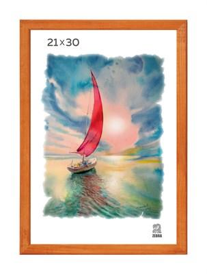 Рамка деревянная 21х30 см цвет лиственница 13 профиль - фото 7402