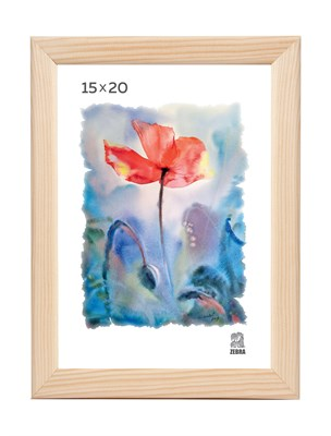 Рамка деревянная 15х20 см цвет натуральный 13 профиль - фото 7617