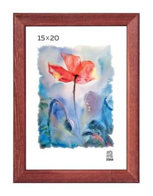 Рамка деревянная 15х20 см цвет красное дерево 13 профиль - фото 7619