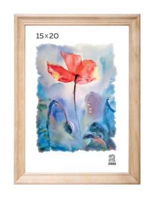Рамка деревянная 15х20 см цвет натуральный 15 профиль - фото 7621