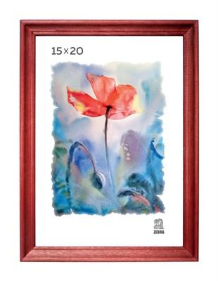 Рамка деревянная 15х20 см цвет вишня 15 профиль - фото 7623