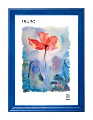 Рамка деревянная 15х20 см цвет синий 15 профиль - фото 7624