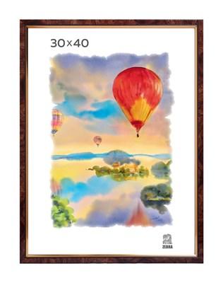 Рамка пластиковая 30х40 см цвет коричневый 2 профиль - фото 7704