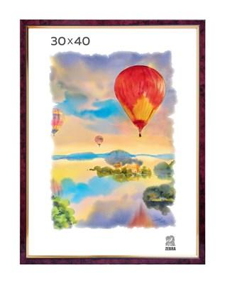 Рамка пластиковая 30х40 см цвет бордовый 2 профиль - фото 7719