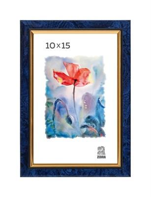 Рамка пластиковая 10х15 см цвет синий 2 профиль - фото 7722
