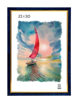 Рамка пластиковая 21х30 см цвет синий 2 профиль - фото 7731