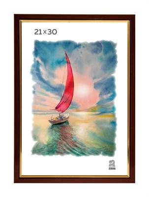 Рамка пластиковая 21х30 см цвет капучино 2 профиль - фото 7761