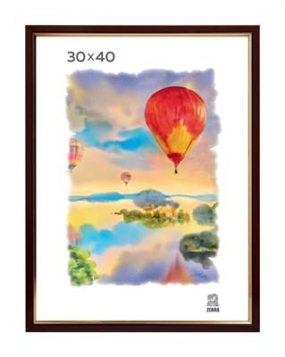 Рамка пластиковая 30х40 см цвет капучино 2 профиль - фото 7765
