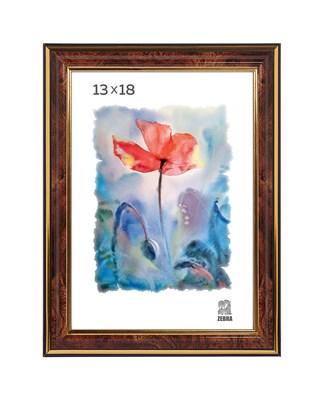 Рамка пластиковая 13х18 см цвет коричневый 3 профиль - фото 7786