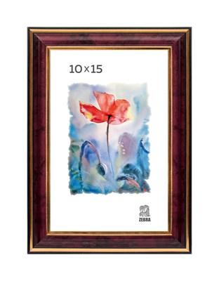 Рамка пластиковая 10х15 см цвет бордовый 3 профиль - фото 7802
