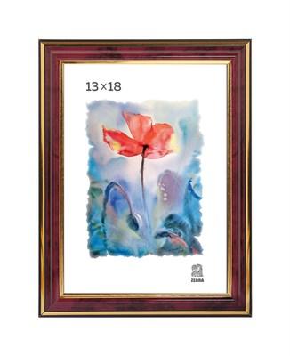Рамка пластиковая 13х18 см цвет бордовый 3 профиль - фото 7805