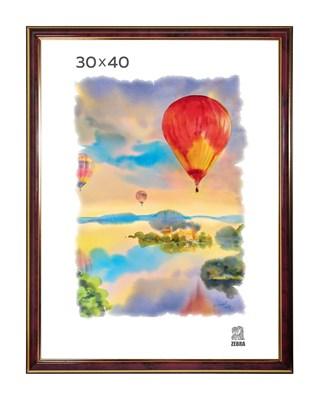 Рамка пластиковая 30х40 см цвет бордовый 3 профиль - фото 7814