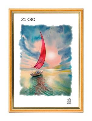 Рамка пластиковая 21х30 см цвет песочный 3 профиль - фото 7830