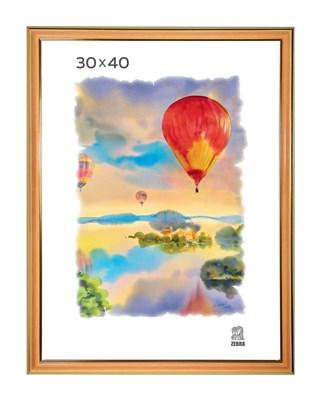 Рамка пластиковая 30х40 см цвет песочный 3 профиль - фото 7833