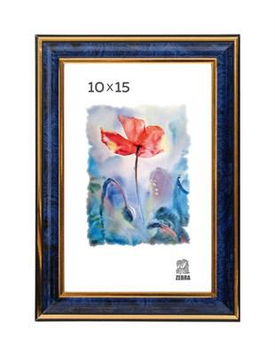 Рамка пластиковая 10х15 см цвет синий 3 профиль - фото 7837