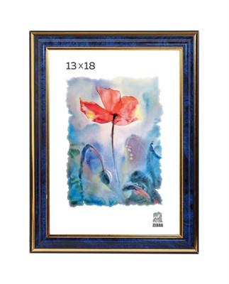 Рамка пластиковая 13х18 см цвет синий 3 профиль - фото 7840
