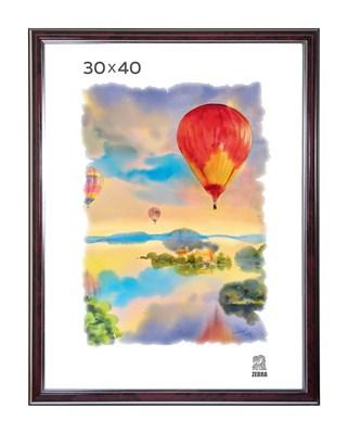 Рамка пластиковая 30х40 см цвет бордовый с серебряным декором 3 профиль - фото 7906