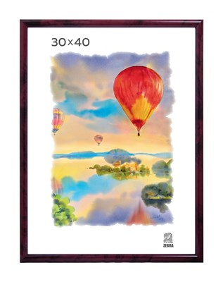 Рамка пластиковая 30х40 см цвет бордовый 5 профиль - фото 7986