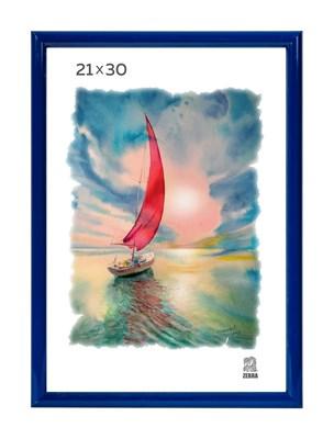 Рамка пластиковая 21х30 см цвет синий 5 профиль - фото 8000