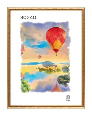 Рамка пластиковая 30х40 см цвет золотой 5 профиль - фото 8048