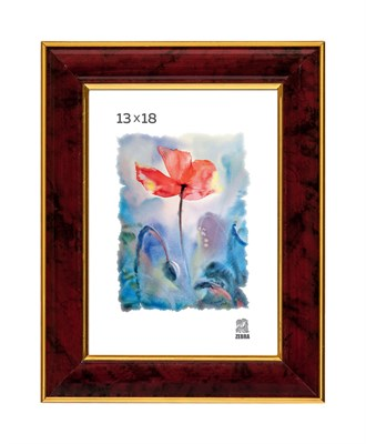 Рамка пластиковая 13х18 см цвет бордовый 6 профиль - фото 8121