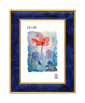 Рамка пластиковая 13х18 см цвет синий 6 профиль - фото 8140