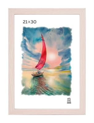 Рамка МДФ 21х30 цвет крем-брюле 1 профиль - фото 8213
