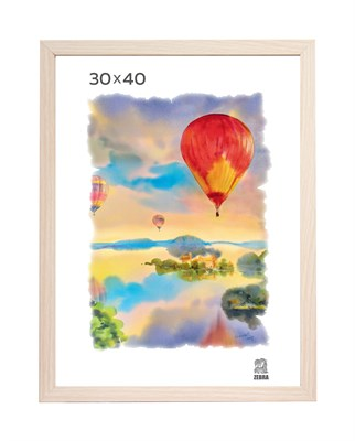 Рамка МДФ 30х40 цвет крем-брюле 1 профиль - фото 8216