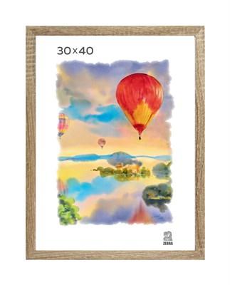 Рамка МДФ 30х40 цвет дуб 1 профиль - фото 8261