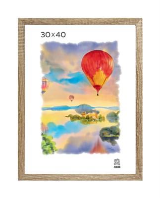 Рамка МДФ 30х40 цвет дуб 2 профиль - фото 8333