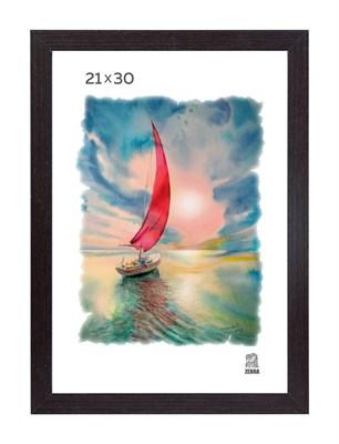 Рамка МДФ 21х30 цвет венге 1 профиль - фото 8353