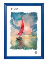 Рамка деревянная 21х30 см цвет синий 15 профиль