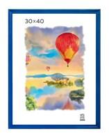 Рамка деревянная 30х40 см цвет синий 15 профиль
