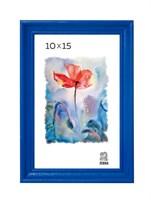 Рамка деревянная 10х15 см цвет синий 15 профиль
