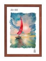 Рамка деревянная 21х30 см цвет орех 13 профиль