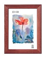 Рамка деревянная 13х18 см цвет красное дерево 13 профиль