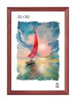 Рамка деревянная 21х30 см цвет красное дерево 13 профиль