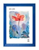 Рамка деревянная 15х20 см цвет синий 15 профиль