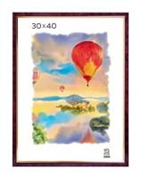 Рамка пластиковая 30х40 см цвет бордовый 2 профиль